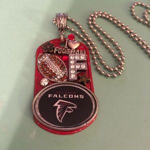 Jewelry - Atlanta Falcons Football Bling Dog Tag Necklace